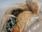 Spanakopita ~ Greek Spinach Triangles