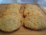 Gluten-free Goat Cheese Garlic and Cheddar HerbCrackers