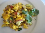 Roasted Corn, Mango and Lentil Salad with Red Chili Ginger Honey Lime Dressing