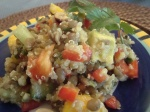 """Curried"" Quinoa and Lentil Salad"