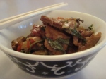 Thai style beef with basil and death tosnails…